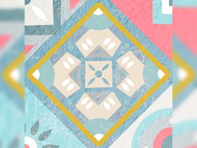 Mosaic Tiles Illustration 1/9