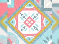 Mosaic Tiles Illustration | Grid Challenge 9/9