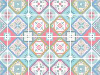 Mosaic Tiles Illustration Pattern