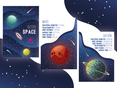 Outer Space Illustration Book