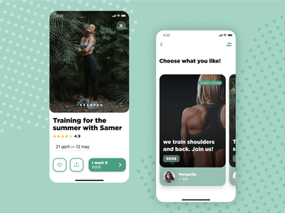 "Mobile Screens ""Training"" courses training app training rebranding rebrand tree like circle trees fitness uiux photoshop ui ux figma dribbble design apple artist adobe"