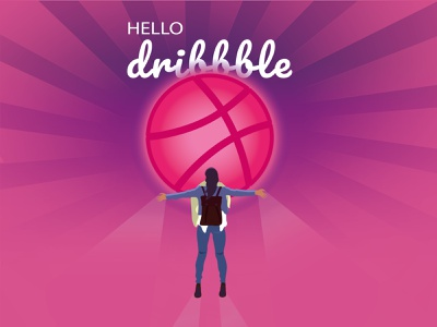 Hello, Dribble! dribbble home invite artist illustration illustrator hello