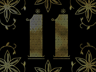 11 number countdown new year illustration design animation