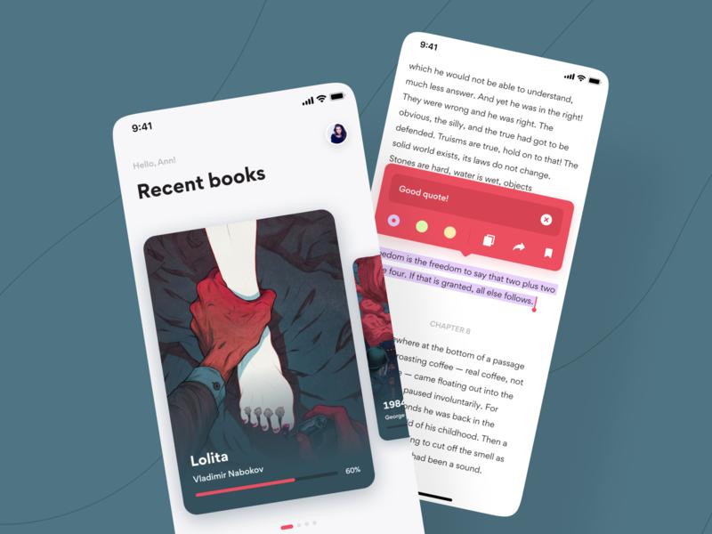 Reading App reading book ui mobile design color app mobile ui mobile