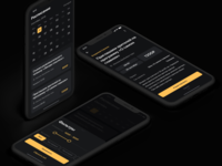 Telepropusk black tv casting concept mobile design ux app design mobile ui mobile design app ui ios dark theme dark ui dark