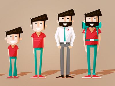 Character Design for a Toyota Film illustrator character design character vector illustration flat design