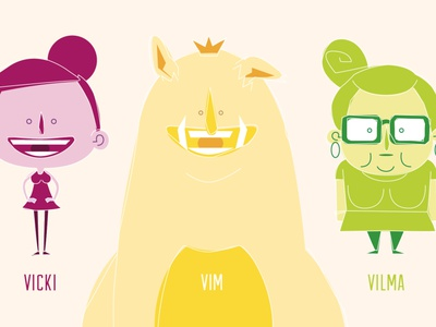 Character Design for a Pitch illustrator character design character vector illustration flat design