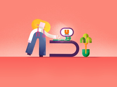 Character Design & Styleframe – YOU typography type illustrator character design character vector illustration flat design