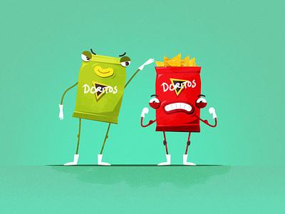 Character Design Layout / Doritos photoshop illustrator illustration character design character vector flat design