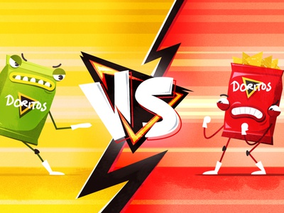 A fight between flavours! photoshop illustrator illustration character design character vector flat design