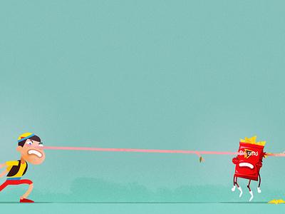 Doritos VS Pinochio styleframe photoshop illustrator illustration character design character vector flat design