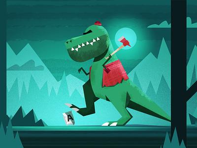 Doritos VS T-Rex photoshop illustrator illustration character design character vector flat design