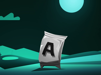 T-Rex Golfer VS Doritos character animation animation adobe after effects 2d animation character design character vector flat design