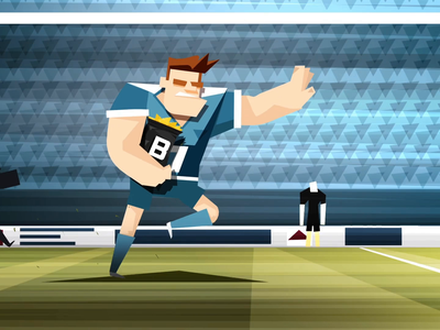 Rugbyplayer VS Doritos character animation animation adobe after effects 2d animation character design character vector flat design
