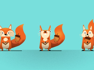 Squirrel – Character Variations photoshop illustrator illustration character design character vector flat design