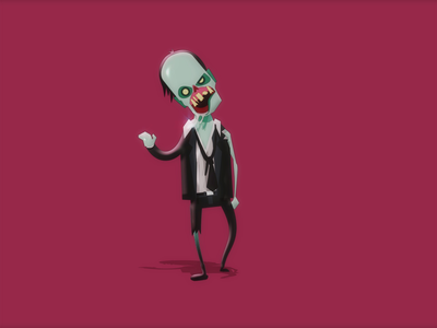 Zombie – Horror Walk Cycle walk cycle zombie horror animation 2d animation adobe after effects character design character vector flat design