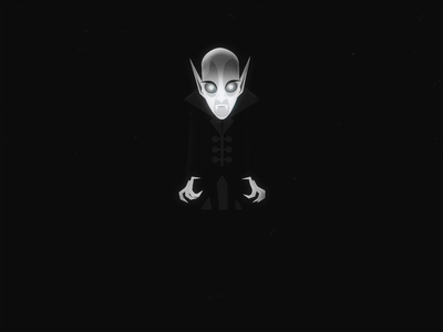 Nosferatu – Horror Walk Cycle vampire walk cycle horror animation adobe after effects 2d animation character design character vector flat design