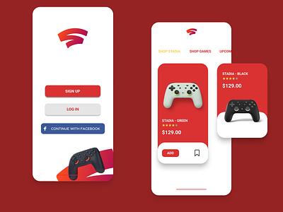 Stadia Online Store videogames iphonex product design app mobile uxdesign ui