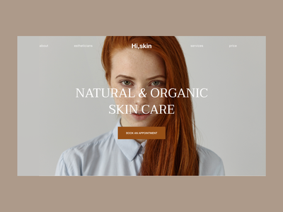 Сosmetics | Skin | First Screen natural care organic girl beauty cosmetics skin firstscreen e-commerce typography design web ui