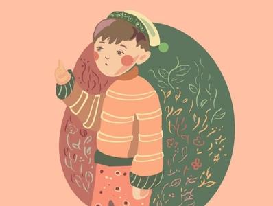 cute elf boy illustration