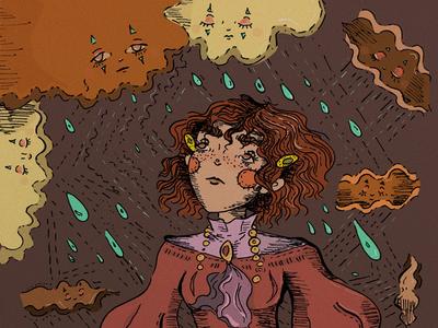 Sad hour illustration