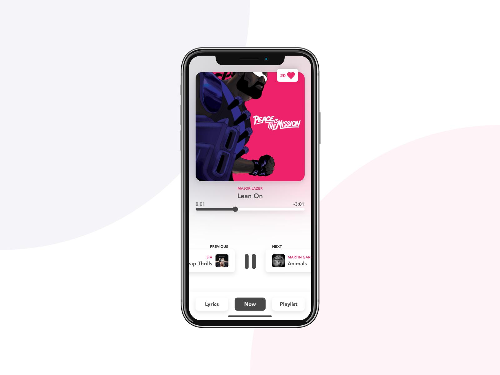 Music app concept major lazer idea app music concept