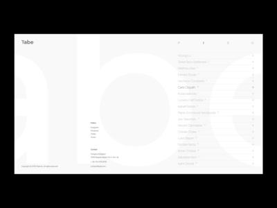 Tabe – Web Design