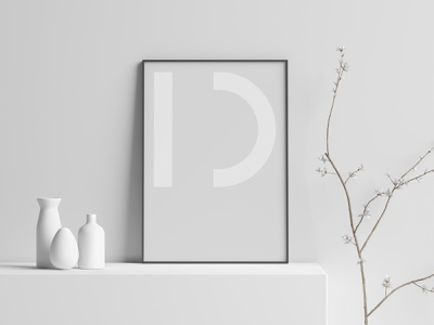 Ideona – Poster grey poster geometric graphic art identity graphicdesign lettering illustrator flat vector minimal design typography branding logo