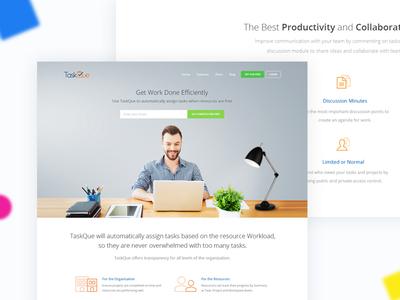 TaskQue Website - Redesign