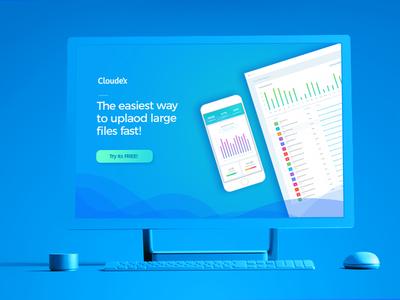 Cloudex - Landing Page