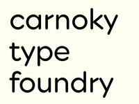 CarnokyType – custom font