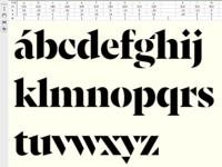 Font in progress