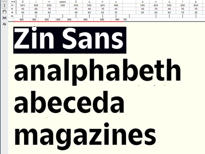 Zin Sans typeface type design type sans serif grotesk font carnokytype