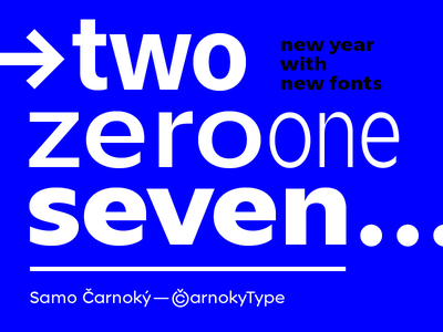 PF 2017 zin sans pour feliciter new year fonts typefaces types 2017 pf carnokytype