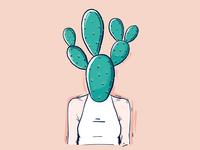 Cacti woman
