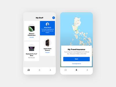 Cutting-edge Insurance App startup insurance company insurance app fintech design clean ux ui insurance minimal app