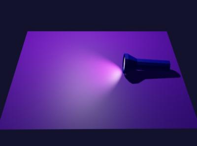 Flash light illustration digitalart blender3d