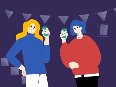 party procreate illustration