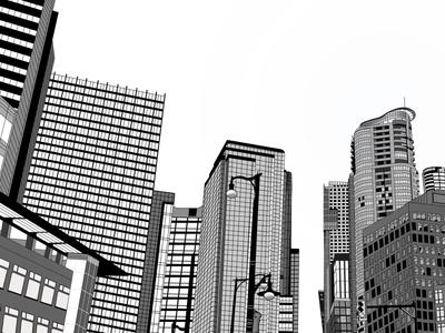 coexistence buildings illustration procreate
