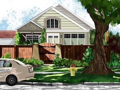 happy monday environment illustration adobe photoshop