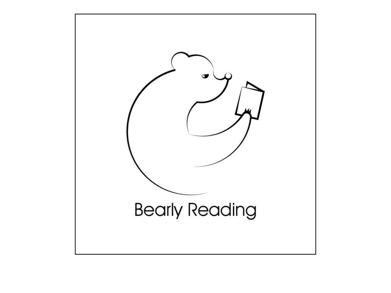 Bearly reading branding design doodling sketch web vector illustration adobeillustator beginner logodesigns books reading bear logo logodesign