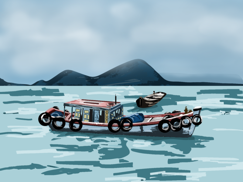 fishing boat adobephotoshop doodling sketch illustrator illustration