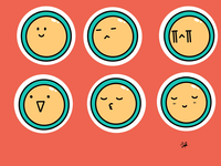 Random sketch stickers illustration