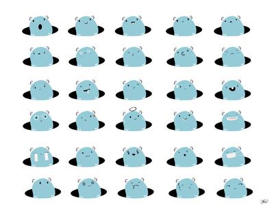 attempting emojis #2 draft procreate quick sketch illustration emojis