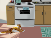 Cheeto cat illustration procreate