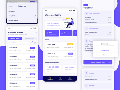Customer care - Mobile app interaction design scripts agents creative customer support android ios mobile application support customer care customer service product customer mobile design ui design ux ui mobile app