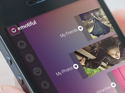 Emotiful iOS and Android App ios android application app photo gallery