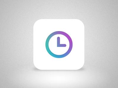 Clock icon for iOS 7  ios icon clock time 7