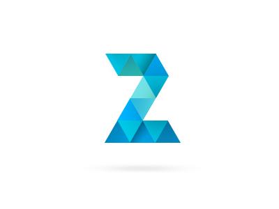 A logo for Z z tile blue