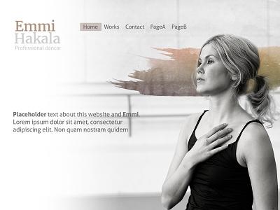 Emmi's website  dancer art website homepage